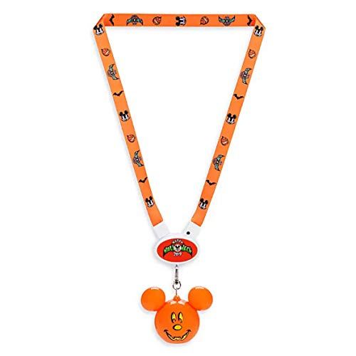 Disney 2019 Happy Halloween Lightup Mickey Pumpkin Lanyard