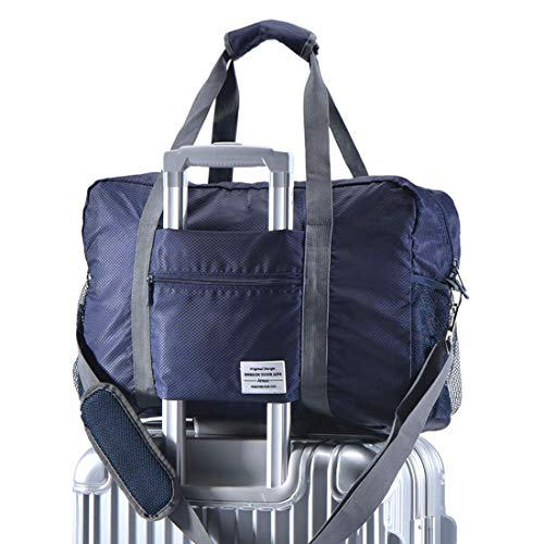 Arxus Travel Lightweight Waterproof Foldable Storage Carry Luggage Duffle Tote Bag (Navy Blue) ()