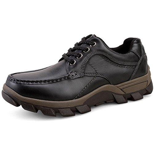 Herren Herbst Winter Casual Leder Schuhe Outdoor Tooling Stiefel 38-44 Black