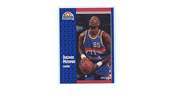 38e47f31b 1991-92 Fleer 277 Dikembe Mutombo Denver Nuggets Rookie Card- Mint  Condition Ships in New Holder at Amazon s Sports Collectibles Store