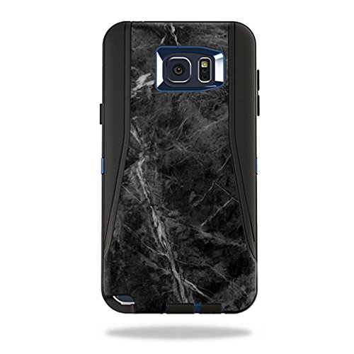 Skin Decal Wrap for OtterBox Defender Samsung Galaxy Note 5 Black Marble