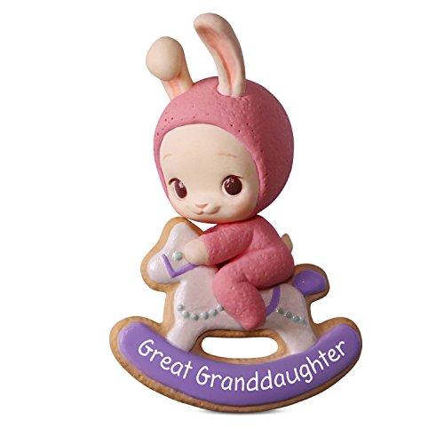 Granddaughter Collectible (Hallmark Keepsake Christmas Ornament 2018 Year Dated, Great Granddaughter Bunny)
