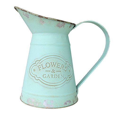 - VANCORE Shabby Chic Metal Jug Vase Pitcher Flower Holder for Home Decoration