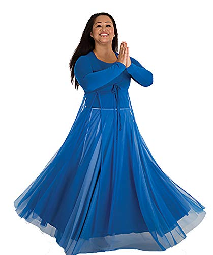 Body Wrappers Adult Long Full Chiffon Skirt (Royal Blue, S/M) - 542