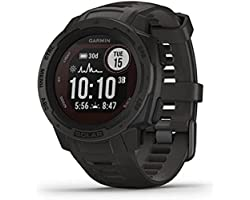 Garmin Instinct Solar, Rugged Outdoor Smartwatch with Solar Charging Capabilities, Built-in Sports Apps and Health Monitoring
