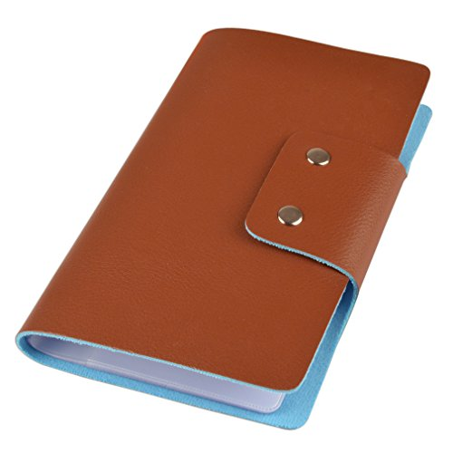 Leatherette Business Card / Credit Card Organizer Book - 96 Cell - 188 Card Capacity Cute Business Cards