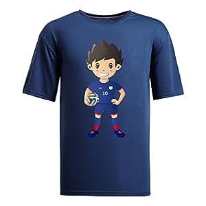 Custom Mens Cotton Short Sleeve Round Neck T-shirt,2014 Brazil FIFA World Cup UP71 navy