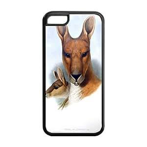 Kangaroo Pattern IPhone 5C Protective Case Hot Sale Black/ White.