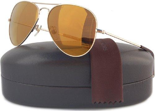 136befb302ba Michael Kors M2066S Dylan Aviator Sunglasses Gold w/Brown Mirror ...