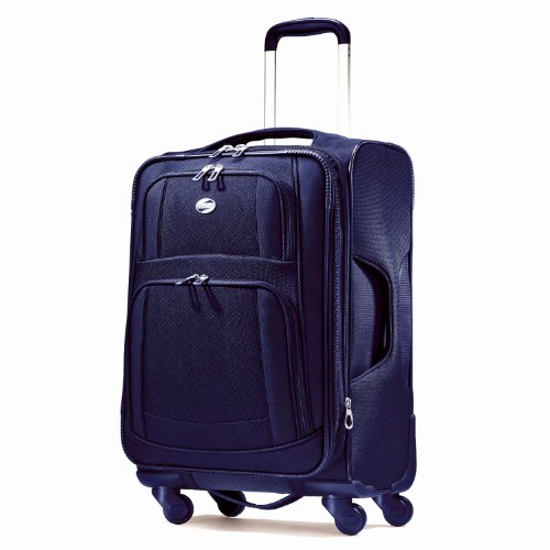 American Tourister Luggage Ilite Supreme 21″ Spinner Suitcase, Sapphire Blue, Bags Central