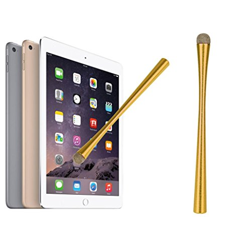 Price comparison product image MNtech NEW Universal Capacitive Touch Pen Metal Slim Long Stylus for Phone Tablet ICA (Gold)
