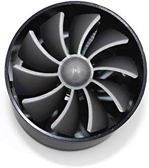 Black Dual Fan Turbine Super Gas Fuel Saver Turbo 2.5 F1-Z Car Air Intake Turbonator