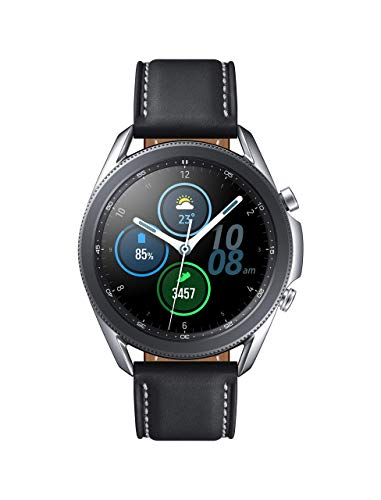 Samsung Galaxy Watch 3 (45mm, GPS, Bluetooth) Smart Watch with Advanced Health monitoring, Fitness Tracking , and Long lasting Battery - Mystic Silver (US Version) (Renewed)
