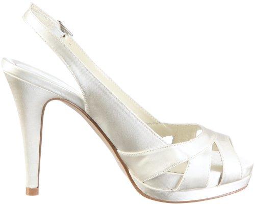 MENBUR Aurora 04556 - Zapatos de novia de tela para mujer Marfil