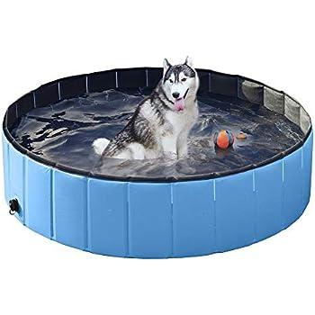 Amazon Com Yaheetech Blue Foldable Collapsible Dog Pet