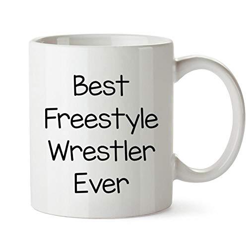 Idakoos Best Freestyle Wrestler ever Mug 11 ounces