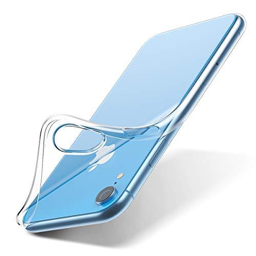 咽頭建築家デコードするiPhone Xr ケース クリア ケース TPU 背面カバー 6.1 アイフォンxr ケース 薄型 指紋防止 黄変防止 ソフト アイフォン耐衝撃 xr カバー (クリア)-DIVI