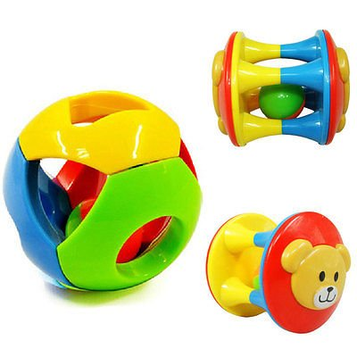 [gangnumsky-2pcs Baby Toy Fun Little Loud Jingle Ball,Ring jingle Develop Baby Intelligence,Training Grasping ability Toy For Baby] (Little Boy Football Player Costume)