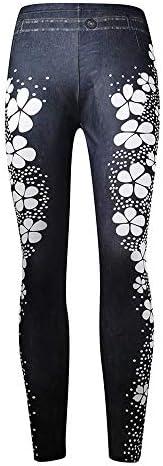 Aniywn Womens Lace Leggings Skinny Pencil Jeans Ankle Length Leggings Tights Yoga Slim Long Pants
