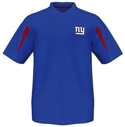 Majestic New York Giants Adult X-Large XL NFL Authentic Performance Polo Shirt - Royal Blue