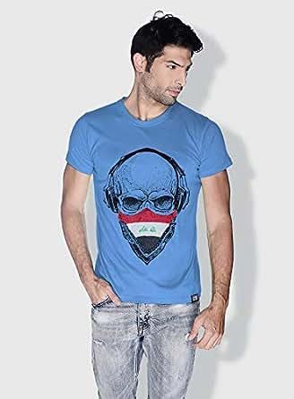 Creo Iraq Skull T-Shirts For Men - S, Blue