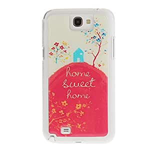 Nsaneoo - Home Sweet Home Drawing Pattern Neutral Stiffiness Silicone Gel Back Case Cover for Samsung Galaxy Note2 N7100