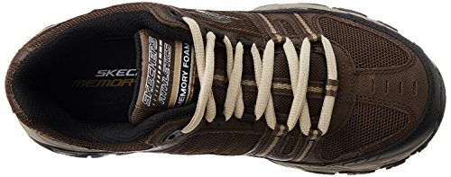 Skechers Sport ¨ Afterburn Grà ve Memory Foam Lace Sneaker up marr¢n/negro