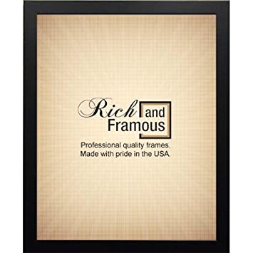 black painted wood poster frame to fit 225x34 - Wood Poster Frame