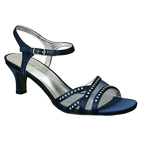 X Satin Violet Navy WIDE David Navy Women's Tate 8 sandals UnYqvP1