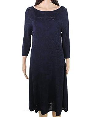Women's Large Floral Lace Sweater Dress