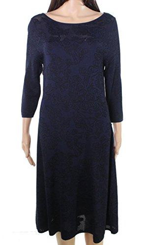 Sweater Lace Floral s Klein Blue Dress Large Women Calvin Rx1vZgR