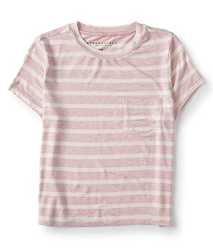 Aeropostale Womens Pocket Baby Basic T-Shirt Pink XL - Juniors (Aeropostale Tee Baby)