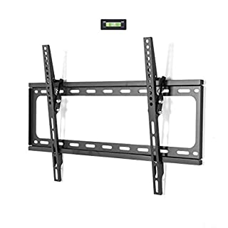 """FLEXIMOUNTS Tilt Low Profile TV Wall Mount Bracket for Most 32-65 inch LED Plasma Flat Screen TVs Fits 16""""- 24"""" Wood Studs, Tilting TV Mount with VESA 600 x 400mm Holds up to 77lbs"""
