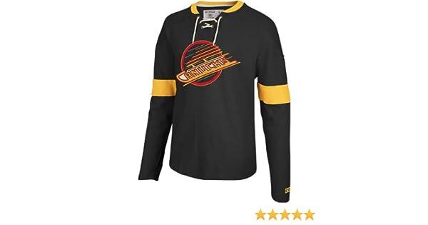 Vancouver Canucks CCM Knit Rib Crew Jersey Shirt 0533fbe47