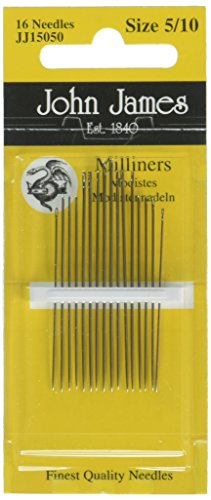 Colonial Needle 16 Count John James Milliners/Straw Assorted Needles, Size 5/10