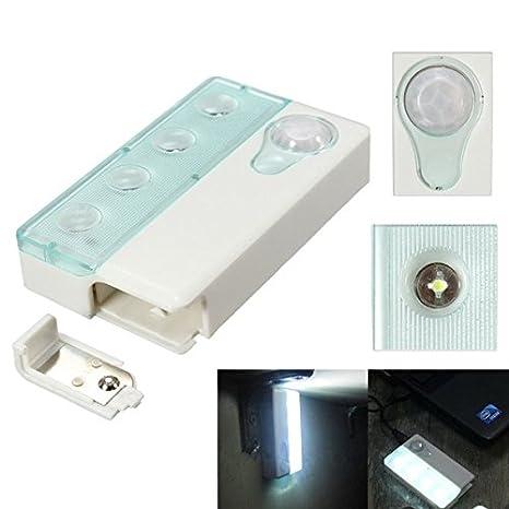 Pegasus 4 LED pir infrarrojos IR inalámbrico detector de movimiento automático y sensor de luz de la lámpara: Amazon.es: Iluminación