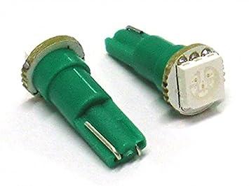 bombillas Led T5 W1,2W 1 Smd 12V color VERDE GREEN Luces del tablero e Instrumentación: Amazon.es: Coche y moto