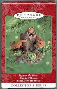 1 X Foxes In The Forest Hallmark Keepsake Ornament: Majestic Wilderness #4 QX6794