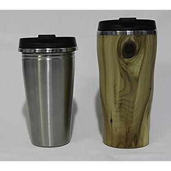 Amazon Com Travel Mug Wood Turning Kit W Spill Proof Lid