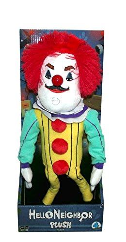 Hello Neighbor Large Neighbor Plush Figure Toy, 15 inches (Clown Costume)