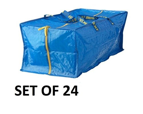 Ikea 901.491.48 Frakta Storage Bag, Blue, 24 Pack by IKEA