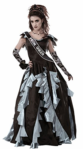 Forum Novelties Women's Zombie Prom Queen Sash Party Supplies, Standard, -