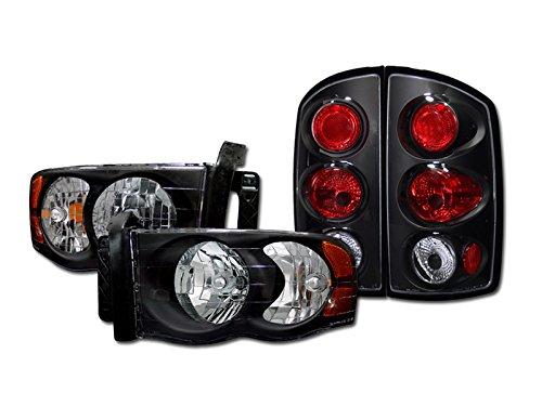 Crystal Black Headlights Signal Amber+Altezza Tail Lights G5 Dodge Ram