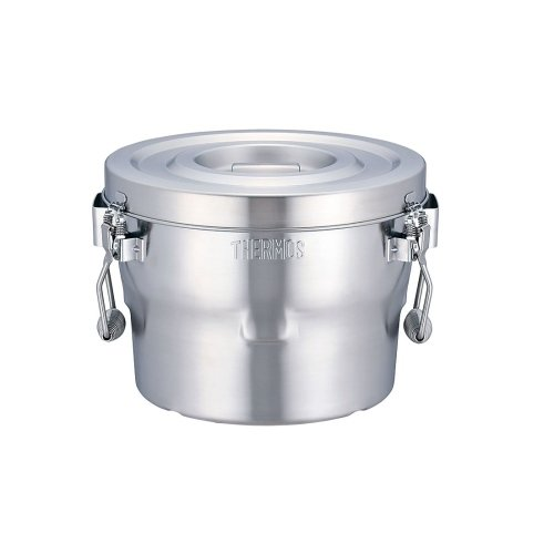 THERMOS(サーモス) 高性能保温食缶(シャトルドラム) GBBー10C 本体:ステンレス鋼 フタ取っ手:フェノール 日本 ASYE701   B00FRC9BKG