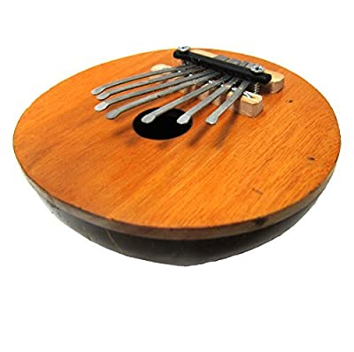 Kalimba Thumb Piano - 7 keys - Tunable - Coconut Shell - Natural - by World Percussion USA by World Percussion USA