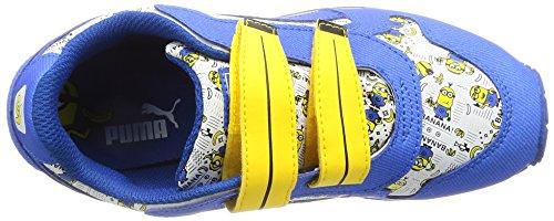 Puma - Zapatilla baja para chico blanco y azul