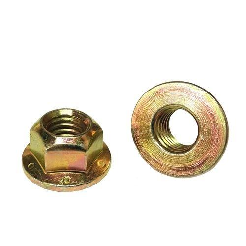 22 5//16-18 Hex Flange Prevailing Torque Top Lock Nuts Grade 8 Zinc Yellow