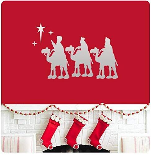 Art Three Wisemen Nativity Silouette Home for Bedroom Living Room Wall Decals Decor Vinyl Sticker Q6620