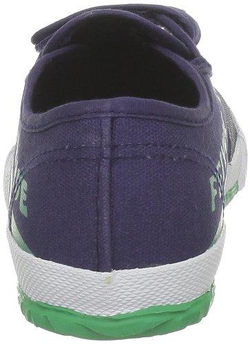 Feiyue Lo Junior Canvas Schuhe Turnschuhe Klettverschluss Sneakers Pumps Blau