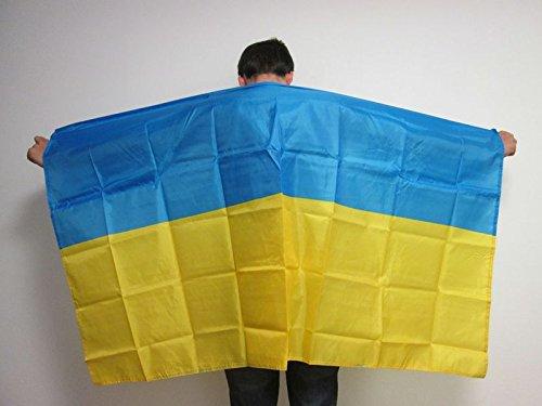 UKRAINE BODY FLAG 3' x 5' - UKRAINIAN CAPE FAN FLAGS 90 x 150 cm - BANNER 3x5 ft - AZ FLAG